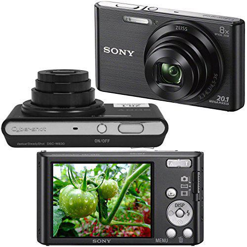 Kompaktkamera - Sony DSC-W830 - Schwarz