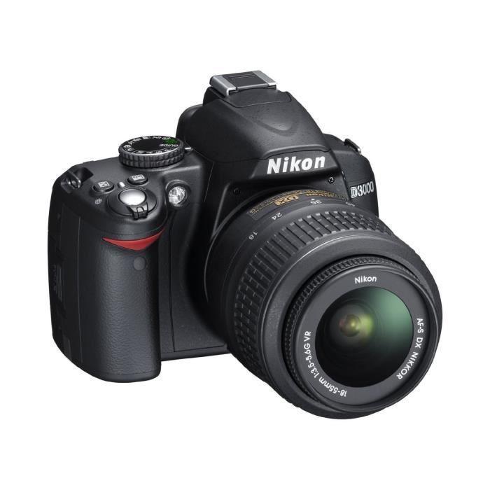Spiegelreflexkamera Nikon D3000 Schwarz + Objektiv Tamron Aspherical LD XR Di II 18-55 mm f/3.5-6.3 IF Macro