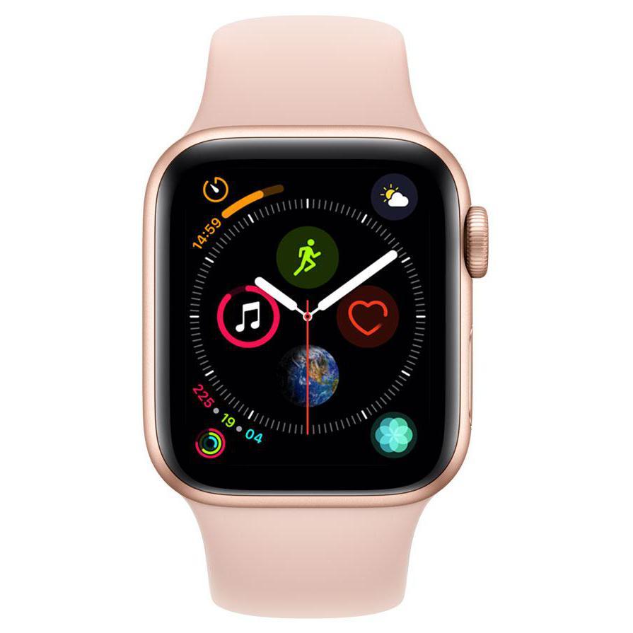 Apple Watch (Series 4) September 2018 40 mm - Aluminium Gold - Armband Sportarmband Sandrosa