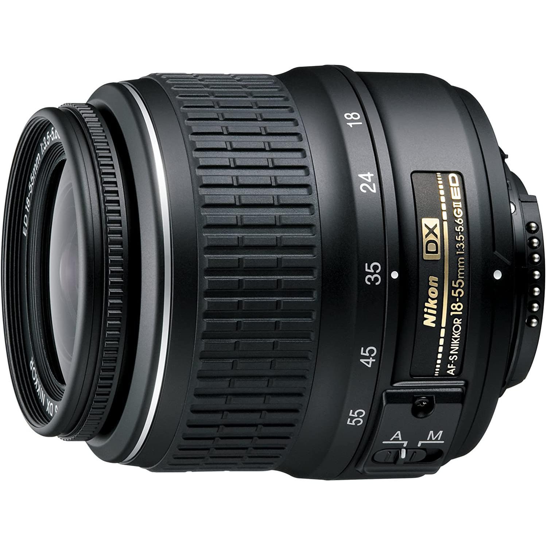 Reflex - Nikon D3200 - Noir + Objectif AF-S DX NIKKOR 18-55 mm f/3.5-5.6 G II ED