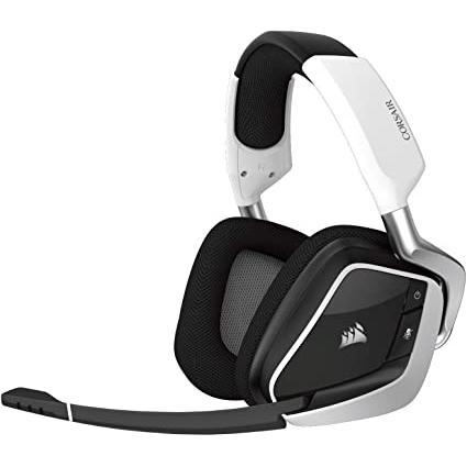 Casque Réducteur de Bruit Gaming Bluetooth avec Micro Corsair Void RGB Elite - Blanc/Noir