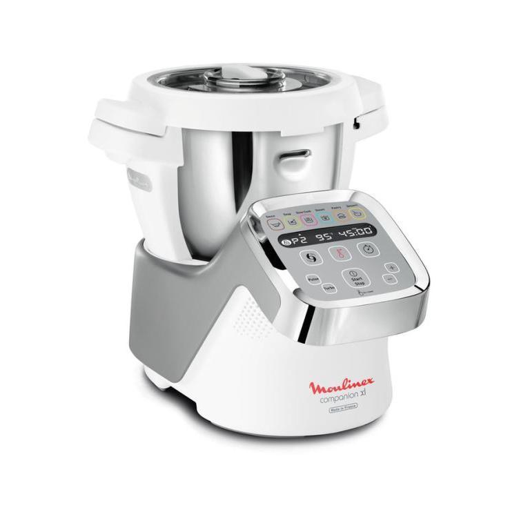 Multifunktions-Küchenmaschine MOULINEX Companion XL HF806E10 Weiß/Grau