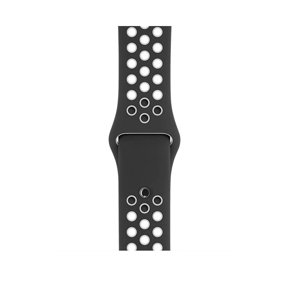 Apple Watch (Series 4) September 2018 40 mm - Aluminium Silber - Armband Nike Sportarmband