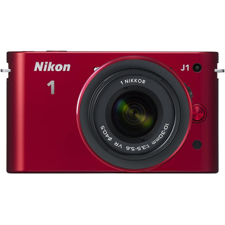 Hybride - Nikon 1 J1 - Rouge + Objectif Nikkor 1 10-30mm f/3.5-5.6