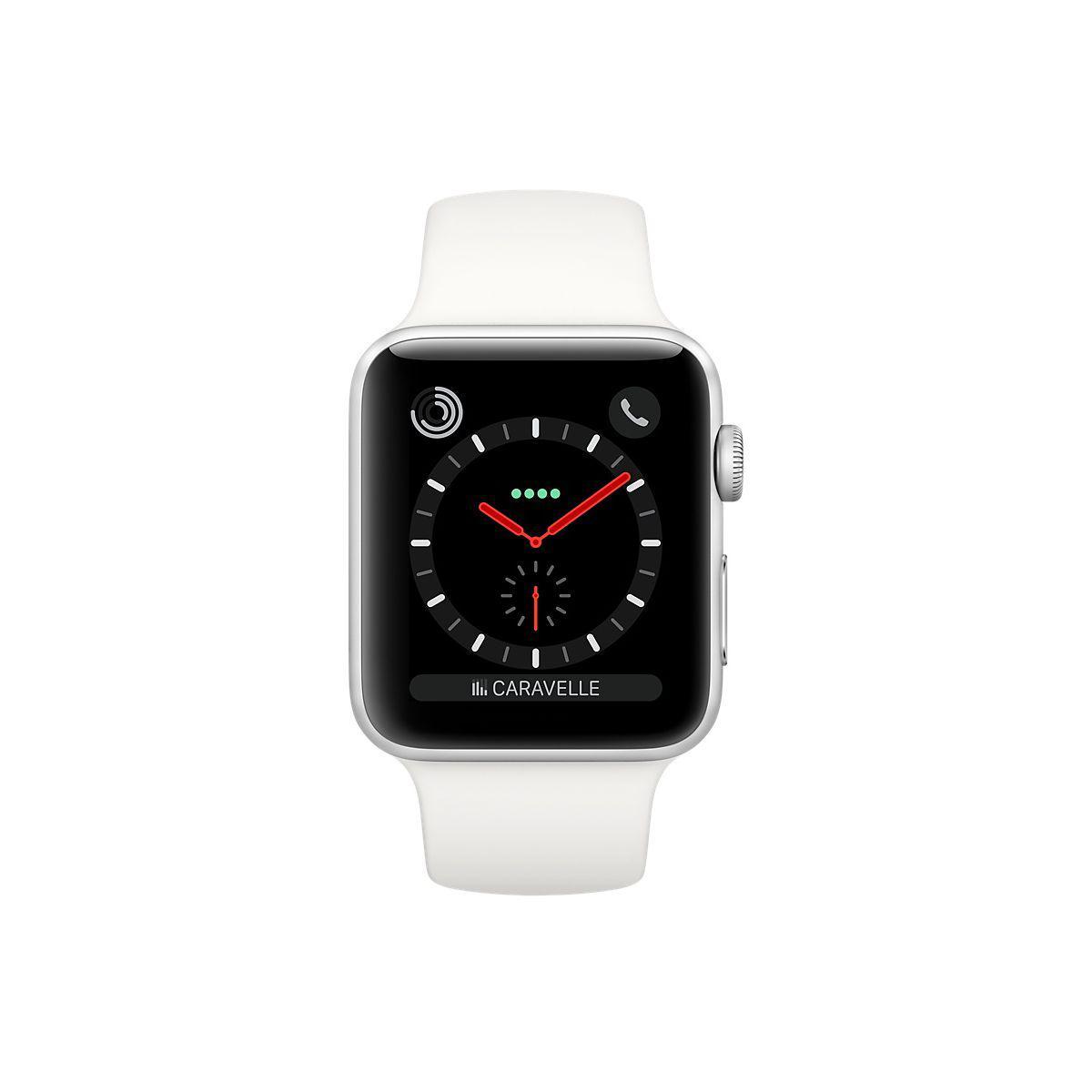 Apple Watch (Series 3) September 2017 42 - Aluminium Silver - Sport loop White