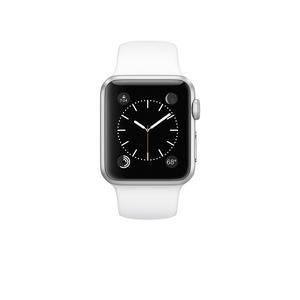 Apple Watch (Series 1) March 2015 38 - Aluminium Silver - Sport loop Antique white
