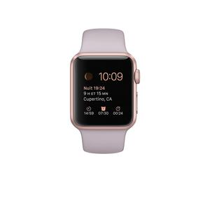 Apple Watch (Series 1) 38 - Aluminium Or rose - Bracelet Sport Rose