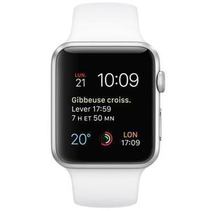 Apple Watch (Series 1) December 2016 42 - Aluminium Silver - Sport loop White