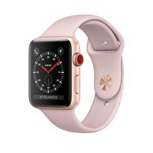 Apple Watch (Series 2) Syyskuu 2016 38 mm - Alumiini Kulta - Armband Sport loop Pinkki hiekka
