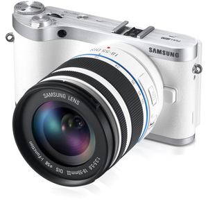 Hybride - SAMSUNG NX1000 - Blanc + objectif SAMSUNG NX 18-55 mm + 50-200mm