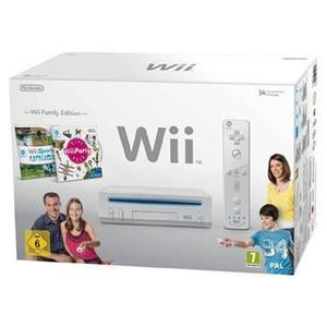 Console Nintendo Wii + FAMILY PACK + WII FIT - Blanc