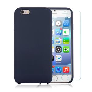 Pack Coque iPhone 6 / iPhone 6S en Silicone Noir + Verre Trempé