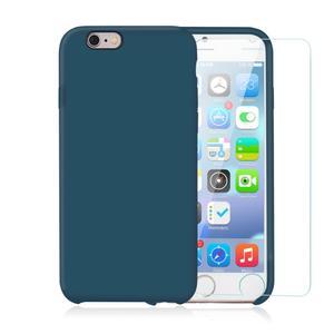 Pack iPhone 6 Plus / iPhone 6S Plus Silikon Hülle Petrol + gehärtetes Glas