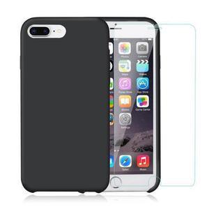 Capa e 2 películas de proteção iPhone 7 Plus/8 Plus - Silicone - Preto