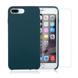 Pack iPhone 7 / iPhone 8 Plus Silikon Hülle Petrol