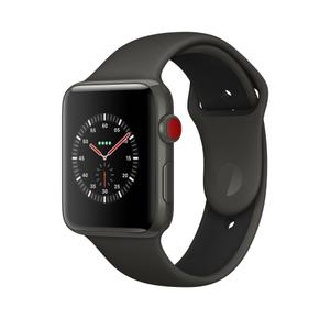Apple Watch (Series 3) 2017 42 mm - Céramique Noir - Bracelet Sport Noir