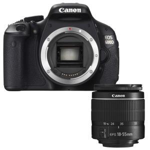 Reflex - Canon EOS 600D - Noir + Objectif Canon Ef-s 18-55 mm
