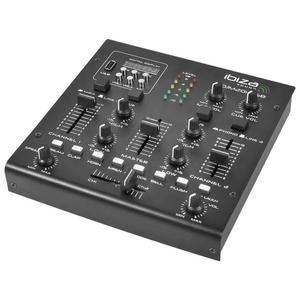 DJ stereomixer Ibiza DJM200USB - Zwart