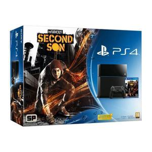 Console - Sony PS4 500 GB + Infamous Second Son - Nero