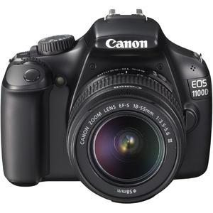 Reflexkamera Canon EOS 1100D - Schwarz + Objektiv EF-S 18-55MM