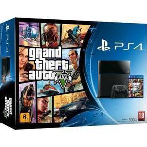 Konsole Sony PlayStation 4 500GB + Joystick + Spiel Grand Theft Auto V - Schwarz