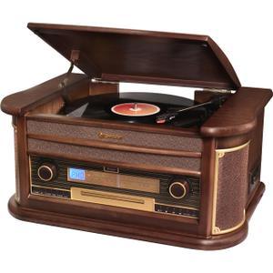 Sistema HiFi vintage con tocadiscos Vintage Roadstar Bluetooth Headset HIF-1996BT