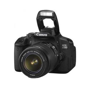 Réflex Canon EOS 650D - Negro + Objetivos Canon EF-S 18-55mm f/3.5-5.6 IS II