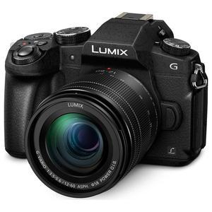 Hybrid Kamera Panasonic DMC-G80 - Schwarz + Objektiv Lumix G Vario 12-60 mm F3.5-5.6