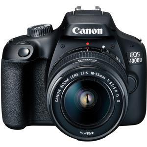 Reflex Canon EOS 4000D - Zwart + Lens  18-55mm f/3.5-5.6III