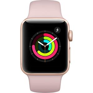 Apple Watch (Series 3) September 2017 38 mm - Aluminium Gold - Armband Sportarmband Rosa