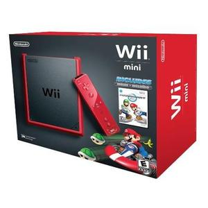 Console Nintendo Wii Mini RVL-201 + Manette + Pack MARIO Kart - Rouge
