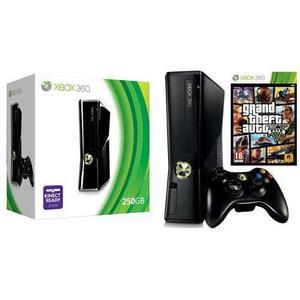 Konsole Microsoft Xbox 360 Slim 250 GB + GTA 5  - Schwarz