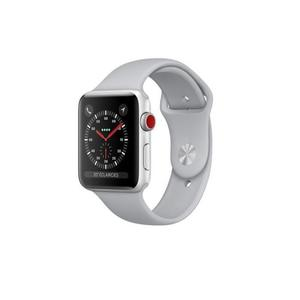 Apple Watch (Series 3) September 2017 42 mm - Aluminium Silber - Armband Sportarmband Grau