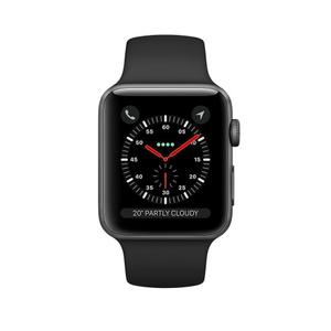 Apple Watch (Series 3) 2017 42 mm - Aluminium Noir -  Bracelet Sport Noir