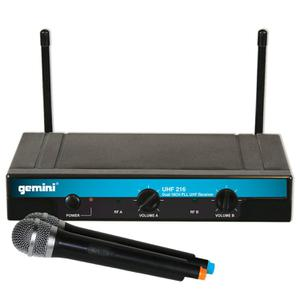 Dubbel UHF draadloos systeem met 2 handmicrofoons Gemini UHF-216M