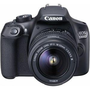 Reflex Canon EOS 1300D - Schwarz + Objektiv 18-55 mm EF-S IS
