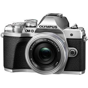 Hybrid - Olympus E-M5 II MARK - Silber/Schwarz + Objektiv ED 14-42 EZ