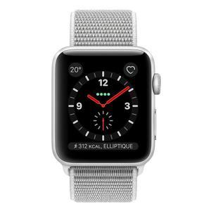 Apple Watch (Series 3) 2017 38 mm - Aluminium Silber - Armband Sportarmband Silber