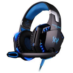 Casque Réducteur de Bruit Gaming avec Micro Kotion Each G2000 - Noir/Bleu