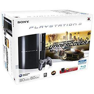 Gameconsole Sony PlayStation 3 80 GB + Controller + Need for Speed: Undercover - Zwart