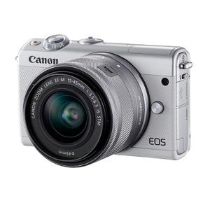 Hybride - Canon EOS M100 - Blanc + Objectif 15-45mm