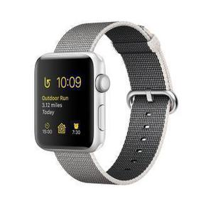Apple Watch (Series 2) September 2017 42 mm - Aluminium Silber - Armband Nylonarmband Grau