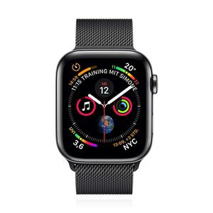 Apple Watch (Series 4)  40 mm - Aluminium Space Graues -  Armband Sportarmband Schwarz