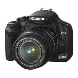 Spiegelreflex Canon EOS 450D - Schwarz + 18-55mm Objektiv EF-S IS