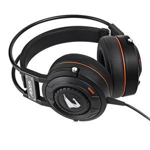 Kopfhörer Gaming mit Mikrophon Gigabyte Aorus H5 - Schwarz