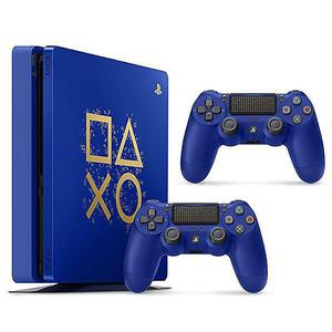 Console - Sony Playstation 4 500 Go + 2 Manettes - Bleu - Edition Days of Play