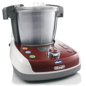 Robot ménager multifonctions CHICCO & DE'LONGHI Baby Meal KCP815.BL Rouge