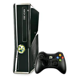 Microsoft Xbox 360 Konsole Slim 4 Go + Kinect + Kinect Adventures -Schwarz