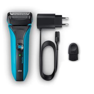Afeitadora Braun Waterflex WF2S - Negro / Azul