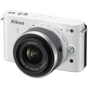 Hybride - Nikon 1 J2 - Blanc + Objectif Nikkor 10-30 mm